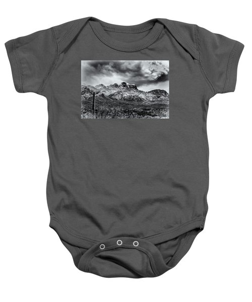 Baby Onesie featuring the photograph Into Clouds by Mark Myhaver