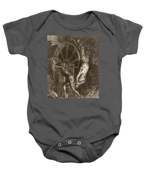 Ixion In Tartarus On The Wheel, 1731 Baby Onesie by Bernard Picart