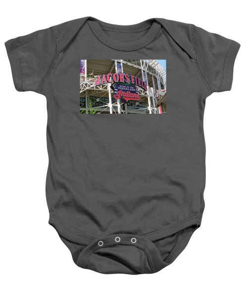 Baby Onesie featuring the photograph Jacobs Field - Cleveland Indians by Frank Romeo