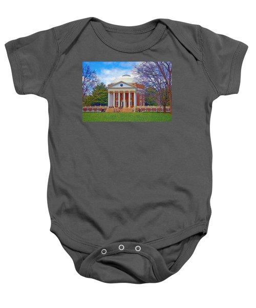 Jefferson's Rotunda At Uva Baby Onesie