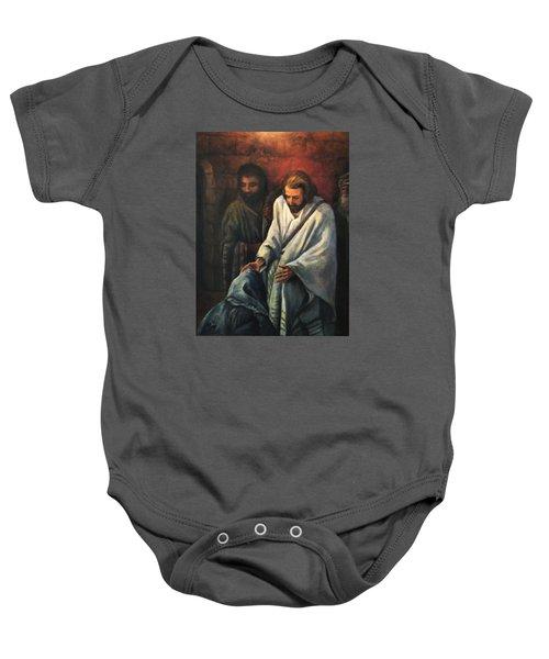 Jesus Healing Beggar Baby Onesie