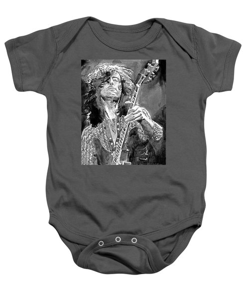 Jimmy Page Mono Baby Onesie