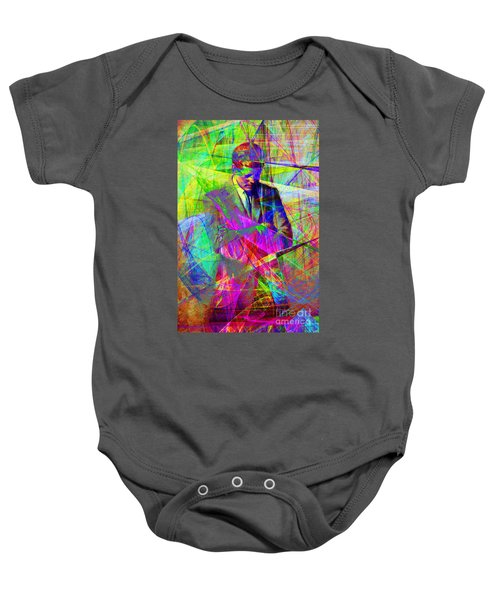 John Fitzgerald Kennedy Jfk In Abstract 20130610 Baby Onesie