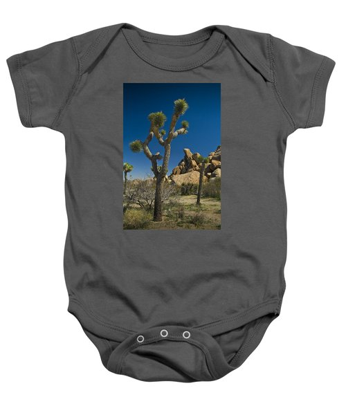 California Joshua Trees In Joshua Tree National Park By The Mojave Desert Baby Onesie