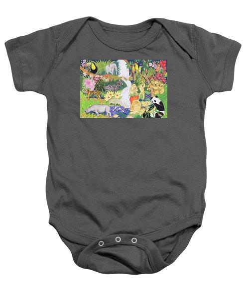 Jungle Animals Wc Baby Onesie
