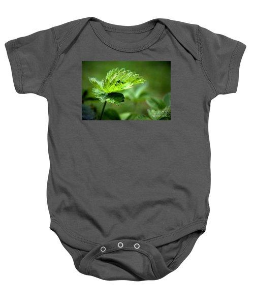 Just Green Baby Onesie