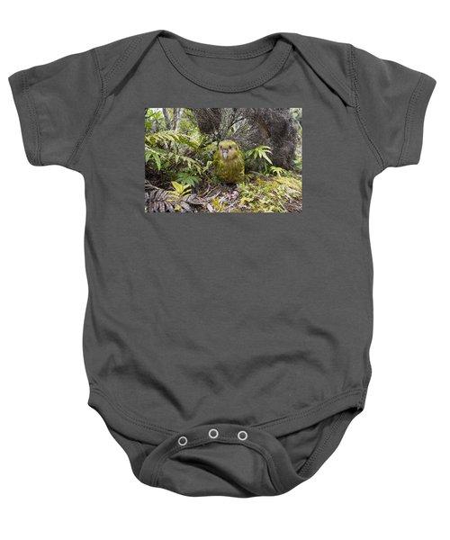 Kakapo Male In Forest Codfish Island Baby Onesie
