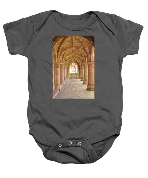 Kelso Abbey Stained Glass Baby Onesie