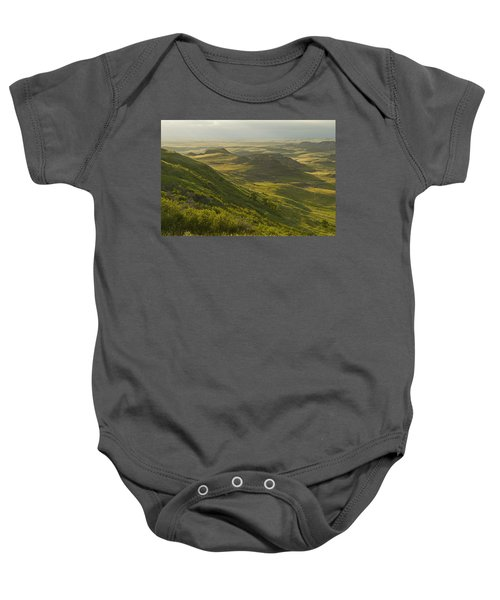Killdeer Badlands In East Block Of Baby Onesie by Dave Reede