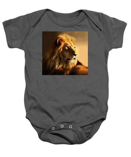 King Lion Of Africa Baby Onesie
