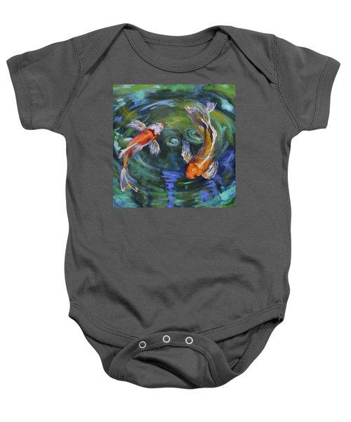 Koi Swirl Baby Onesie
