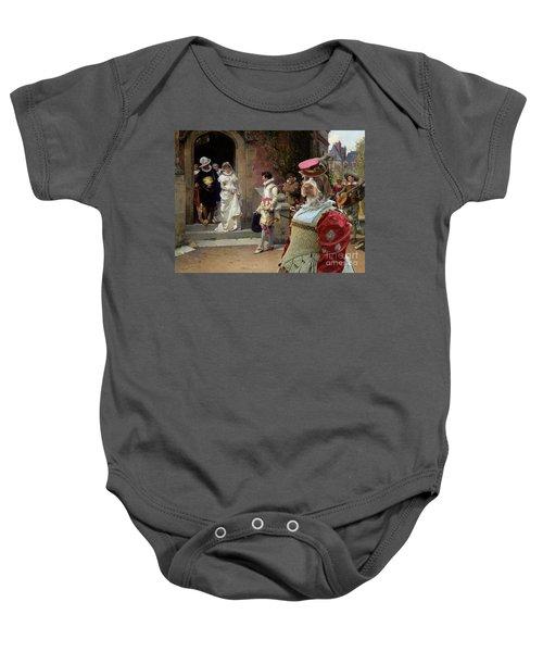 Korthals Pointing Griffon Art Canvas Print Baby Onesie