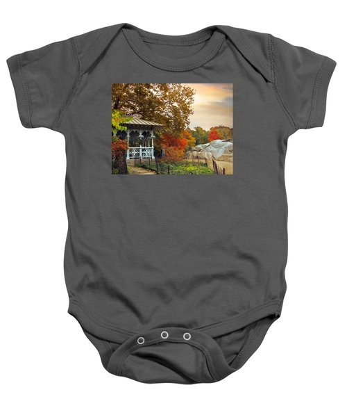 Ladies Pavilion In Autumn Baby Onesie