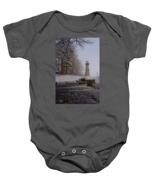 Lake Potanipo Lighthouse Baby Onesie