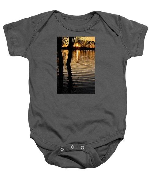 Lake Silhouettes Baby Onesie