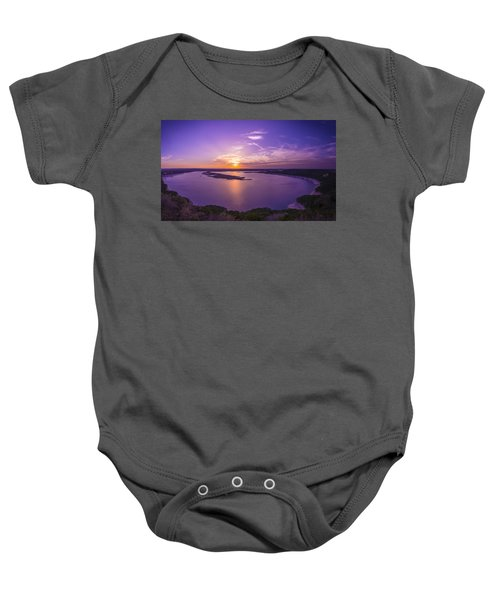 Lake Travis Sunset Baby Onesie