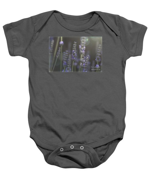 Lavender Flare. Baby Onesie by Clare Bambers