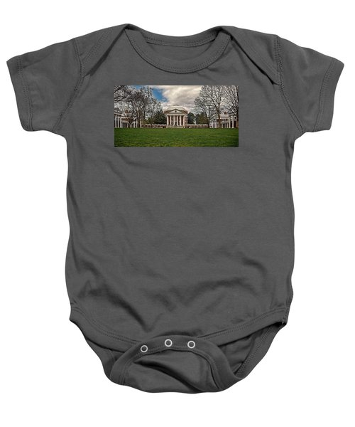 Lawn And Rotunda At University Of Virginia Baby Onesie