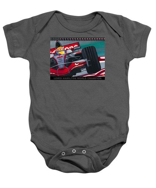 Lewis Hamilton F1 World Champion Pop Baby Onesie