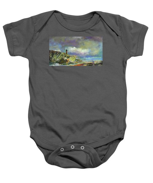 Lighthouse And Fisherman Baby Onesie