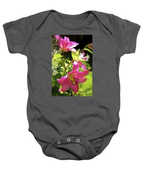 Lilies In The Garden Baby Onesie
