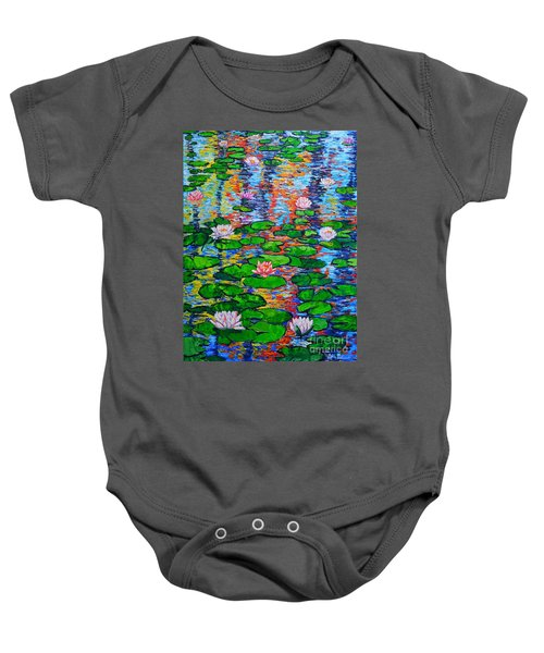 Lily Pond Colorful Reflections Baby Onesie