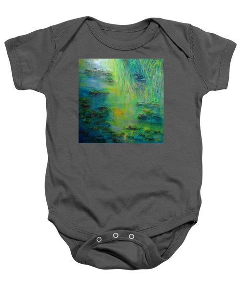 Lily Pond Tribute To Monet Baby Onesie