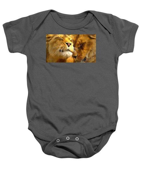Lions In Love Baby Onesie