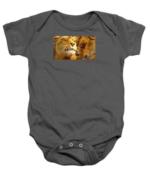 Lions In Love Baby Onesie