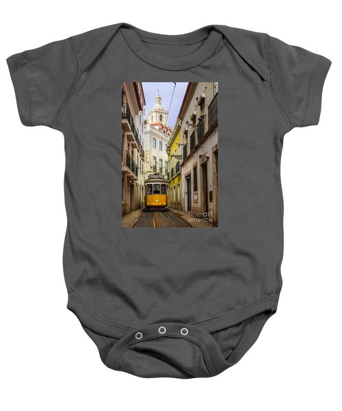 Lisbon Tram Baby Onesie