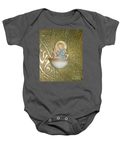 Newborn Boy In The Baptismal Font Sculpture Baby Onesie