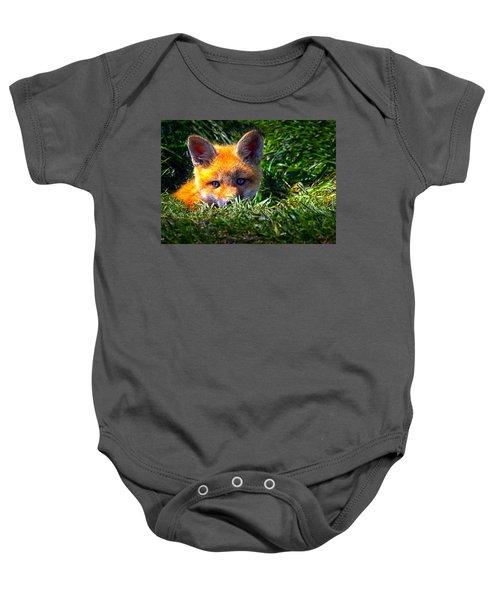 Little Red Fox Baby Onesie
