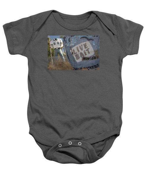Live Bait And The Man Baby Onesie