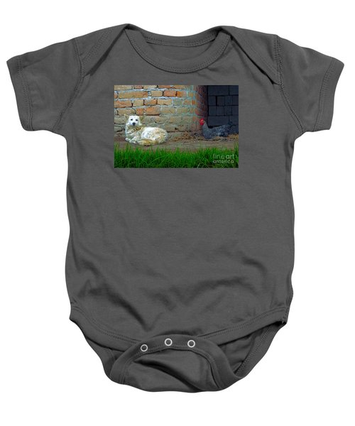 Living In Perfect Harmony Baby Onesie