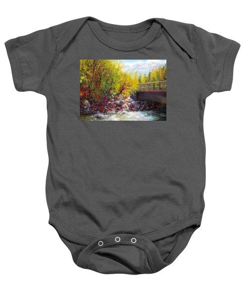 Living Water - Bridge Over Little Su River Baby Onesie