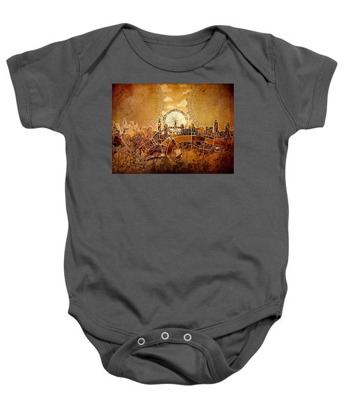 London Skyline Old Vintage  Baby Onesie