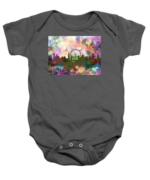 London Skyline Watercolor Baby Onesie