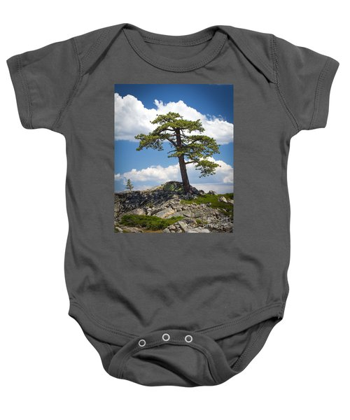 Baby Onesie featuring the photograph Lone Tree by Vincent Bonafede