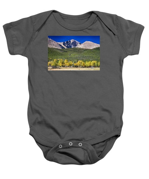 Longs Peak A Colorado Playground Baby Onesie