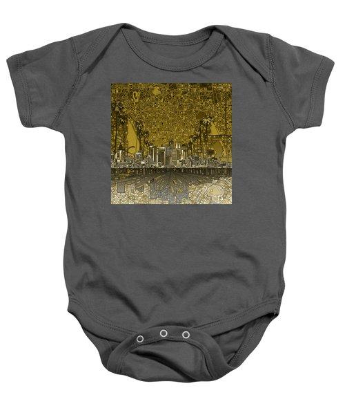 Los Angeles Skyline Abstract 4 Baby Onesie