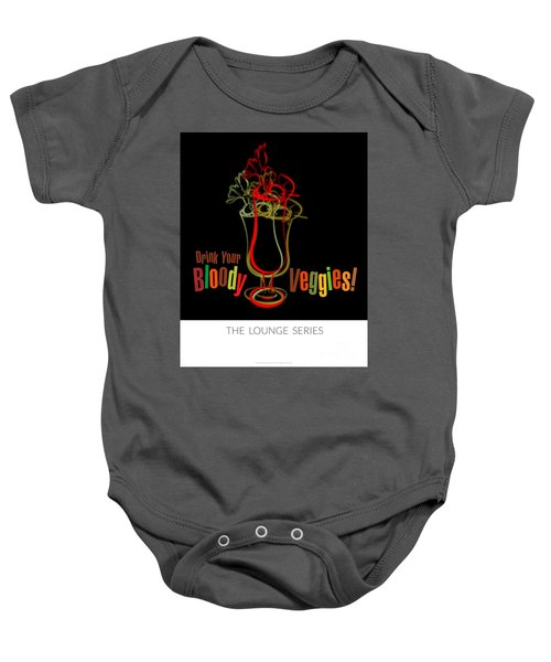 Lounge Series - Drink Your Bloody Veggies Baby Onesie by Mary Machare