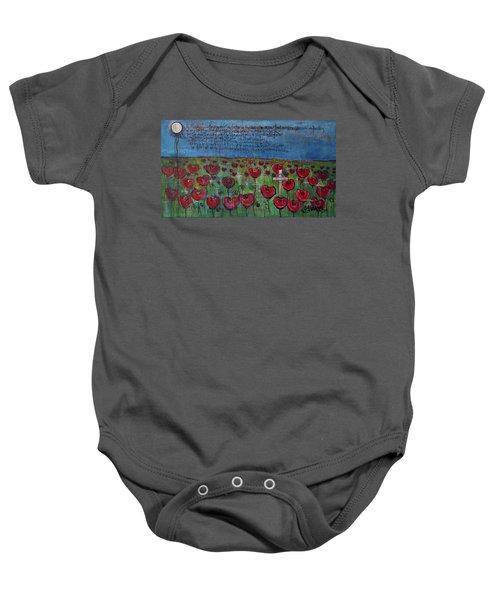 Love For Flanders Fields Poppies Baby Onesie