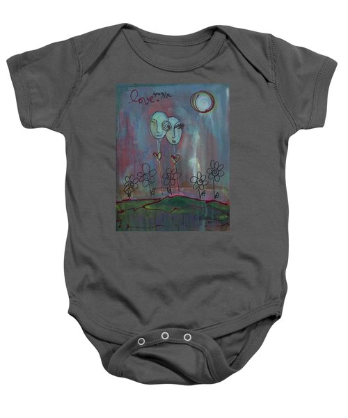 Love You Give Lollipops Baby Onesie