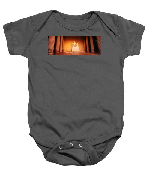 Low Angle View Of A Statue Of Abraham Baby Onesie by Panoramic Images