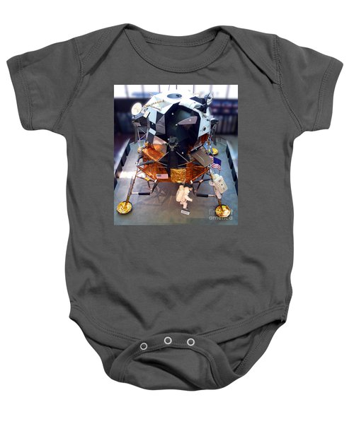 Lunar Module Baby Onesie by Kevin Fortier