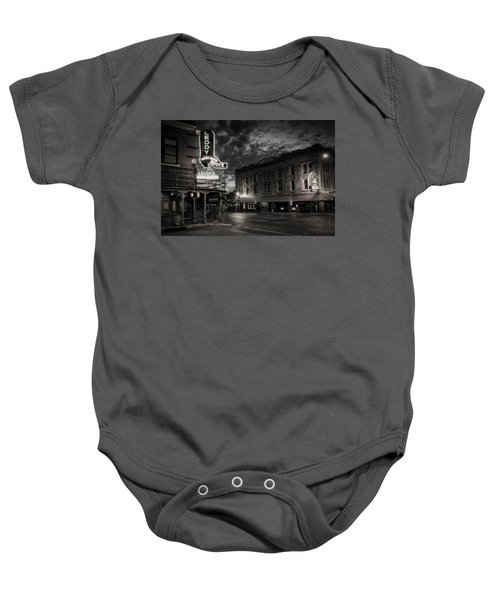Main And Exchange Bw Baby Onesie
