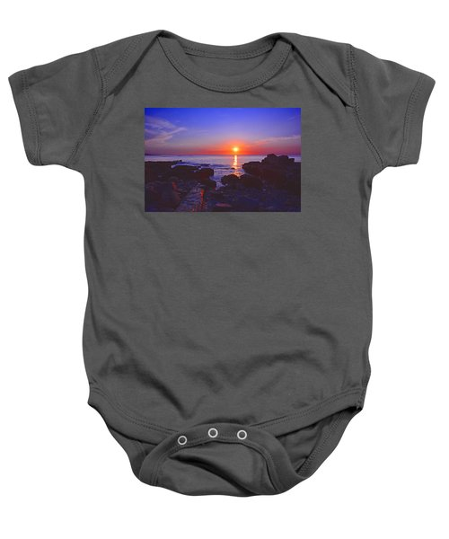 Maine Coast Sunrise Baby Onesie