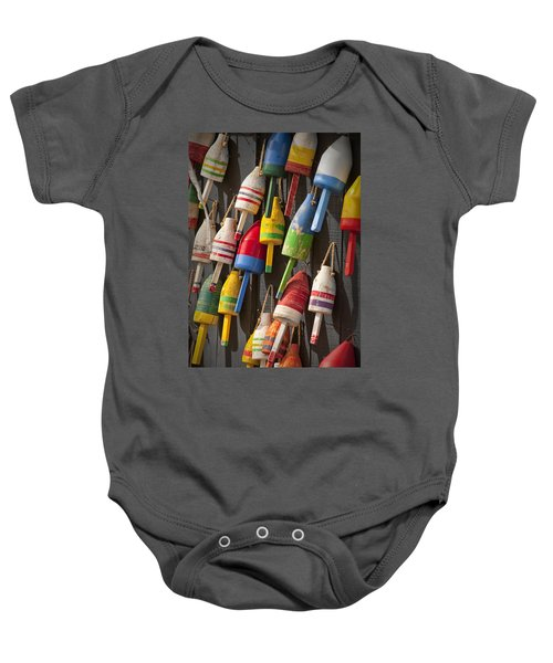 Maine Fishing Buoys Baby Onesie