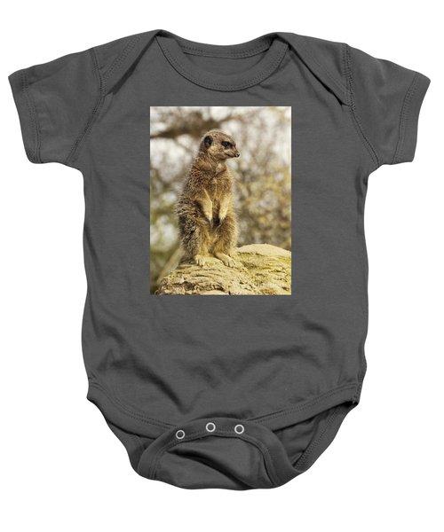 Meerkat On Hill Baby Onesie