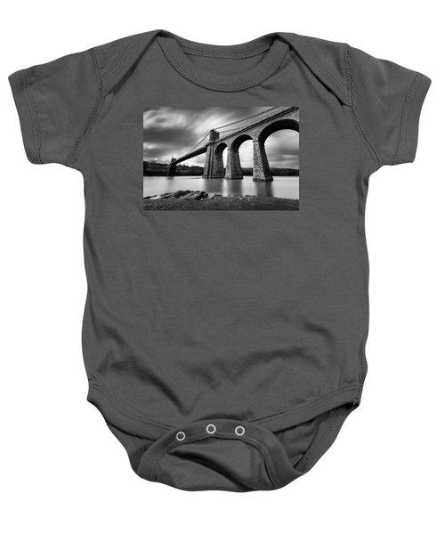 Menai Suspension Bridge Baby Onesie